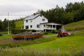 Típica casa escandinava — Foto de Stock