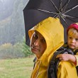 Parent with child in travel — Stok fotoğraf
