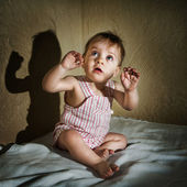 The boy was frightened — Stock Photo