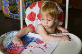 Painting child — Stock Photo
