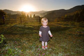 Baby in mountains — Stock Photo