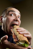 Man Eating Sandwich — Stock Photo