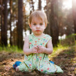Child in forest — Foto Stock