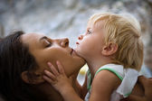 Mother with baby at outdoors — Stock Photo
