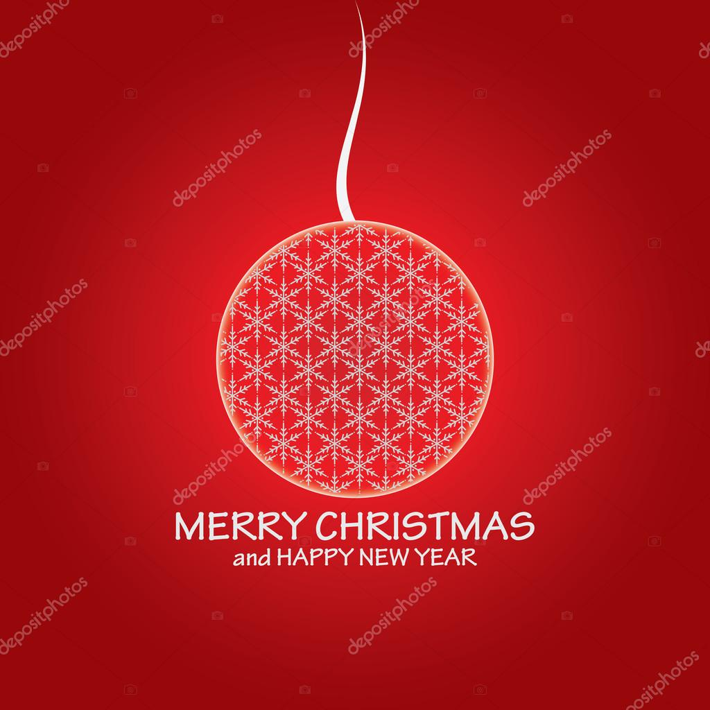 Illustration cute christmas composition with ball - vector  — Stock Vector #12822256