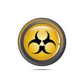 Vector - Radioactive Danger Yellow Button. — Stock Vector