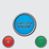 Stopp start knappar — Stockvektor