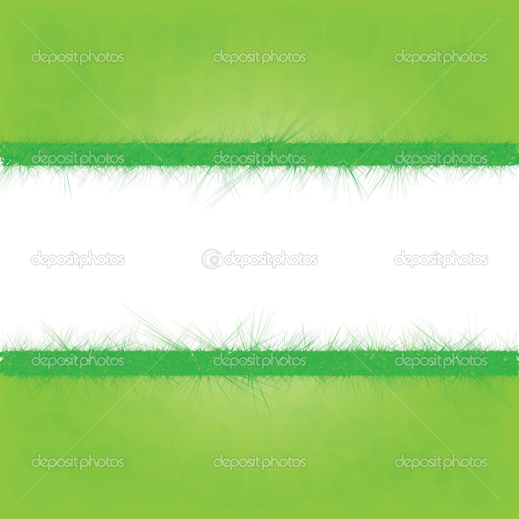 Summer background with green grass, vector eps10 illustration — Stock Vector #13396273