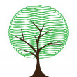Abstract tree on white background. — Stock Vector