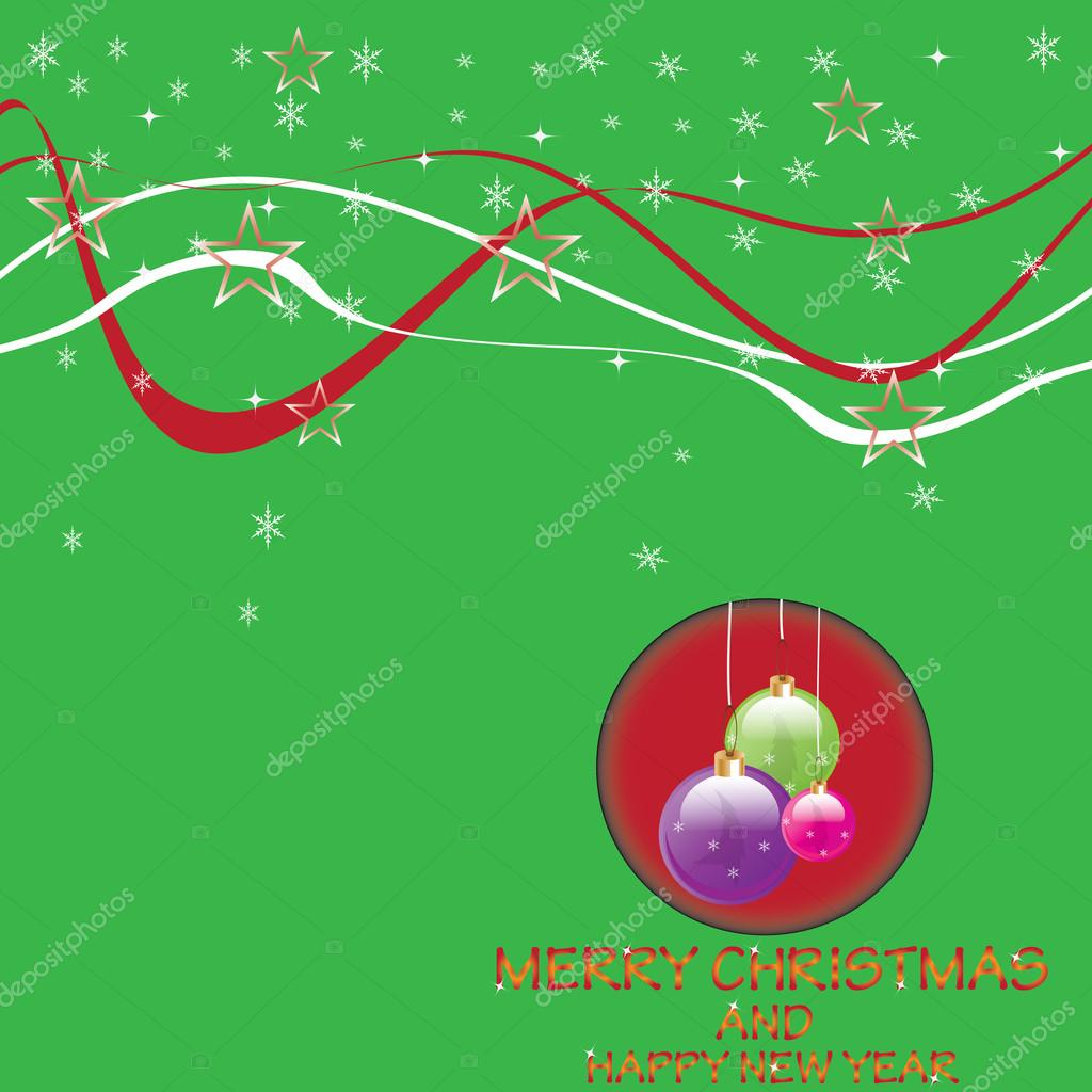 Christmas background with shiny Globes.vector  Stok Vektr #14181977