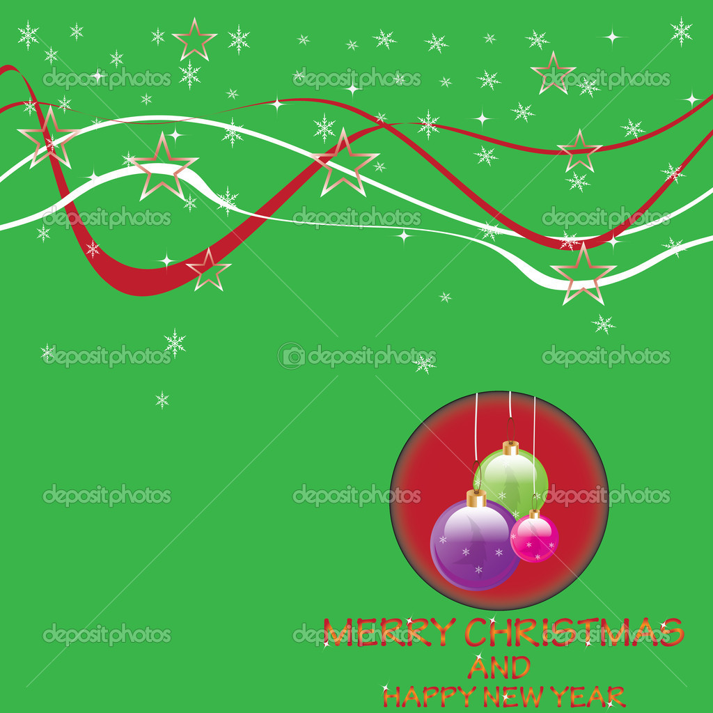 Christmas background with shiny Globes.vector — Векторная иллюстрация #14181977