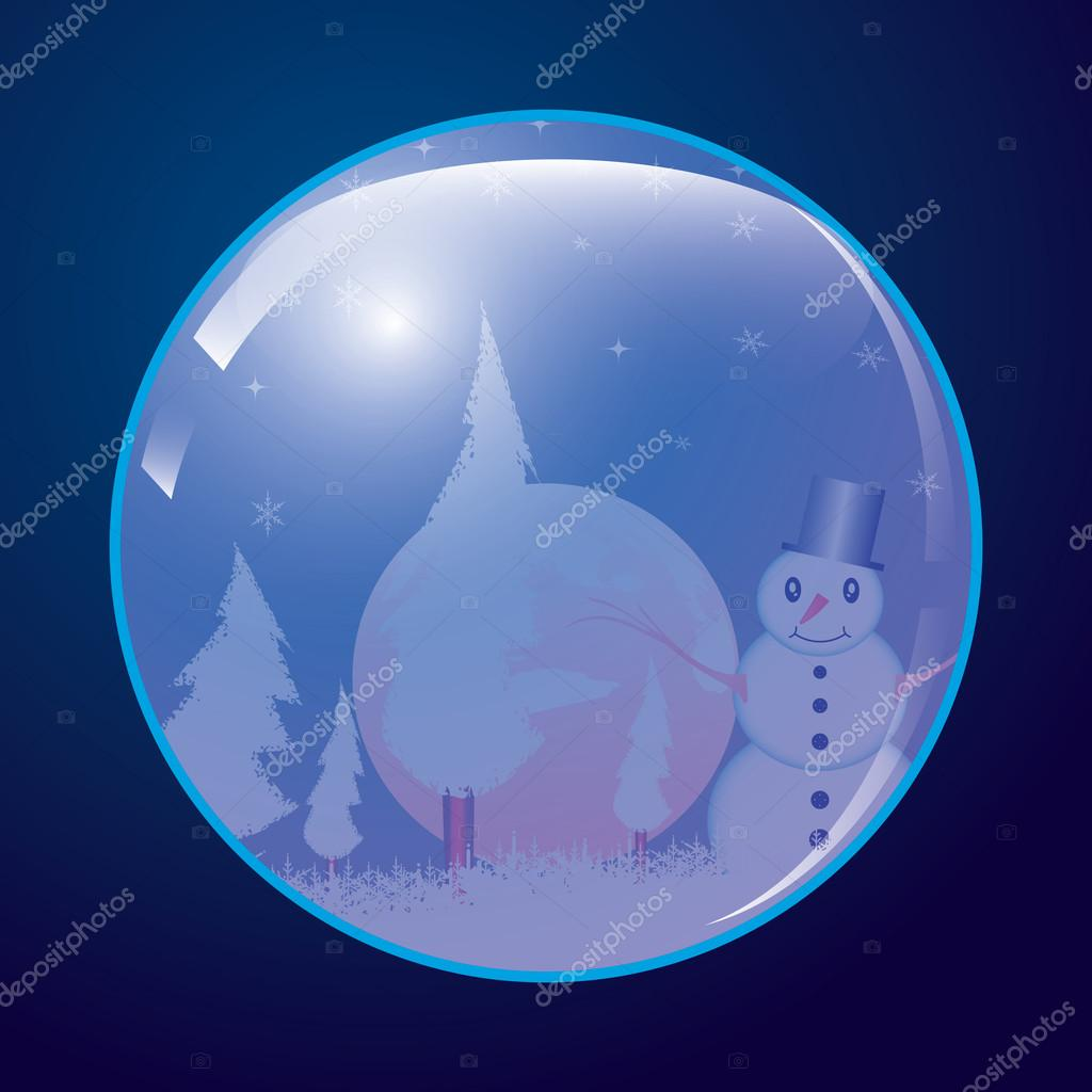 Christmas ball whit snowman.vector — Stock Vector #14831869