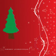 Stock Vector: Christmas tree applique vector background.