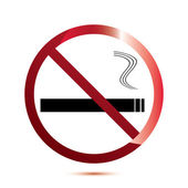 No smoking sign on white . — Stock Vector