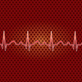 Red heart beat. — Stock Vector