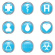 Medical button set — Stock Vector