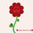 Valentine flower whit heart background. — Stock Vector #19179379