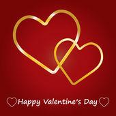 Valentine Day Card whit Hearts. — 图库矢量图片