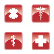 Medical button set . — Stock Vector