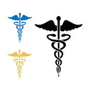 Caduceus medical symbol vector illustration. — Stock Vector