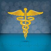 Caduceus medical symbol vector illustration. — Stock Vector