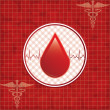 Blood donation background. - Stock Vector