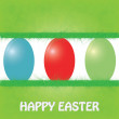 Easter background and egg in grass . - Stock Vector