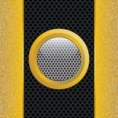 Abstraits bandes métalliques jaunes sur la texture. — Vecteur