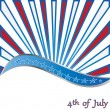 Stock Vector: 4 th of july background .