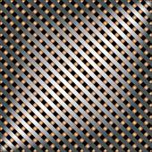 Metalen sjabloon met textuur. — Stockvector