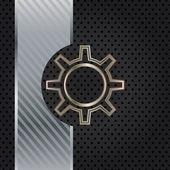 Plantilla de metal con textura. — Vector de stock