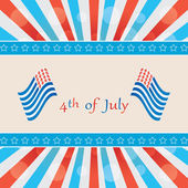4 th of july background . — Stock Vector