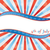 4 th of july background . — Vector de stock