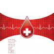 Blood donation background. — Stock Vector