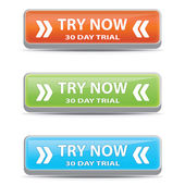 Try now buttons. — Stock Vector