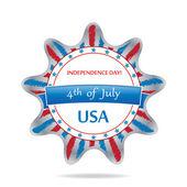 Brilhante ilustração mostrando um coração com a bandeira dos estados unidos da américa — Vetorial Stock