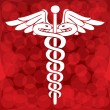Stock Vector: Caduceus medical symbol vector illustration
