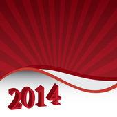 Feliz año nuevo 2014 — Vector de stock