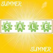 Summer promotional design element. — Stock Vector