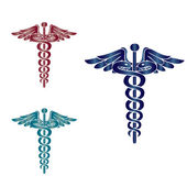 Caduceus medical symbol — Stock Vector