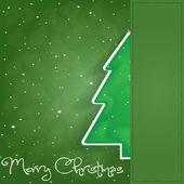 圣诞贺卡。快乐圣诞刻字 — 图库矢量图片