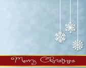 Christmas Greeting Card. Merry Christmas lettering — Stok Vektör