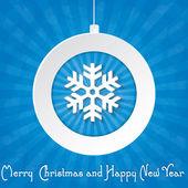 Noel tebrik kartı. merry christmas yazı — Stok Vektör