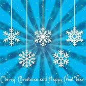 Carte de voeux de Noël. inscription joyeux de Noël — Vecteur