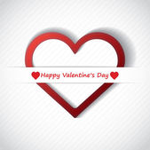 Valentine Day Card whit Hearts. — Stock Vector