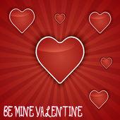 Valentine den kartu drobet srdce. — Stock vektor