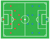 Soccer field . — Stok Vektör