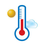 Medical thermometer web icon .vector — Vector de stock