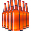 Row of beer Bottles isolated. — Stock Photo #11488756