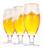 Frosty glass of beer isolated — Стоковое фото